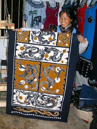 Old Chinese Batik Lady