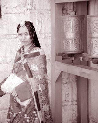 On of the mysterious women of China