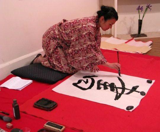 Buddha Hotoke Japanese Kanji Wall Scroll Chinese