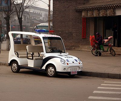 Chinese Police Car / Golf Cart