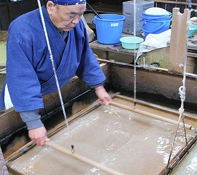 Echizen Japanese paper making