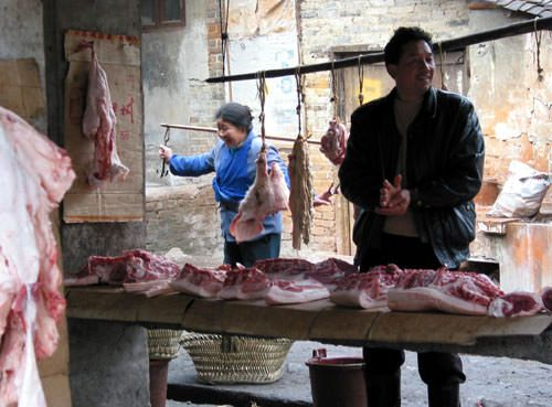 This is how they sell meat in parts of China