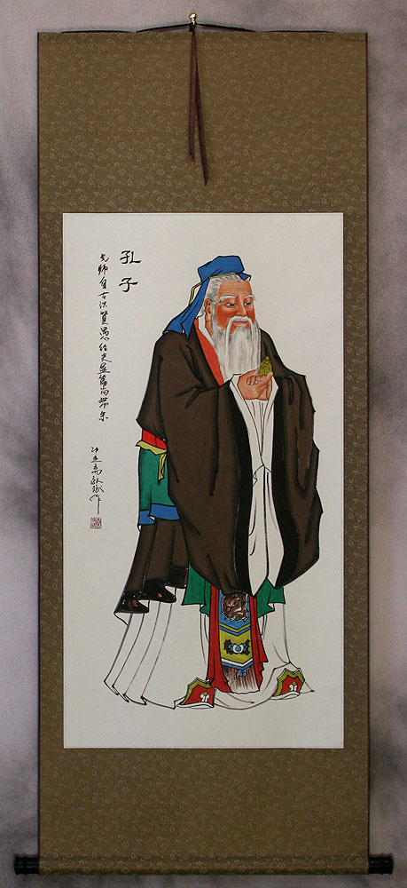 Confucius - The Great Wisdom - Wall Scroll