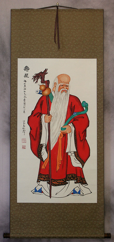 Saint of Longevity - Chinese Wall Scroll
