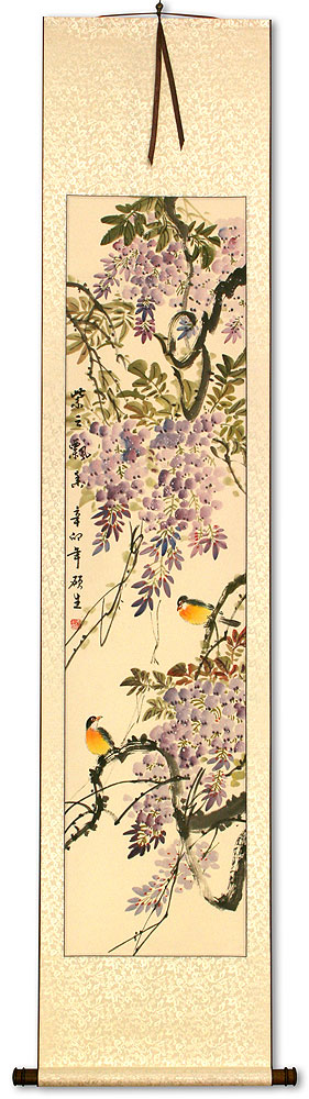 Purple Cloud, Fragrant Breeze - Chinese Wall Scroll