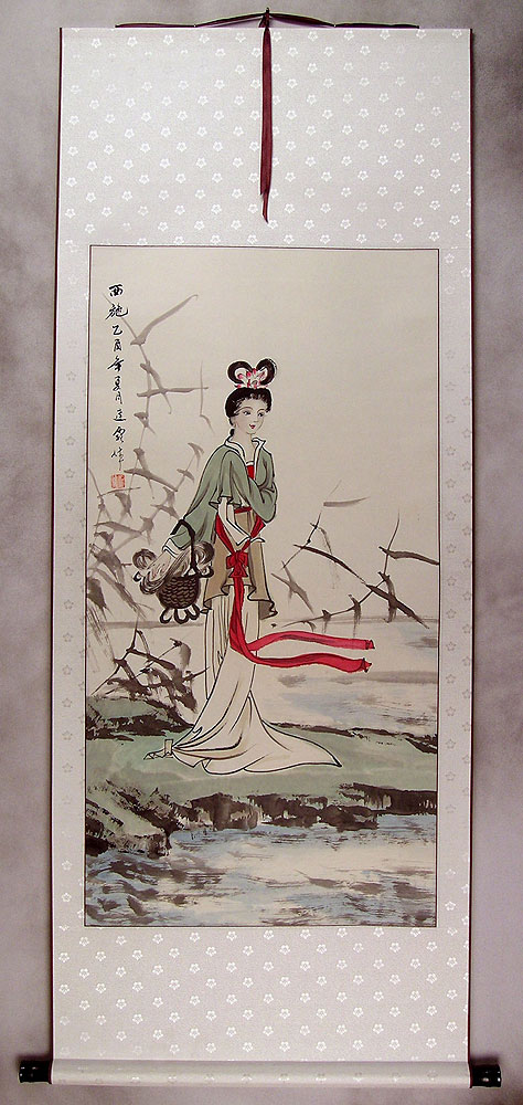 Xi Shi Fairest Beauty Of Ancient China Wall Scroll