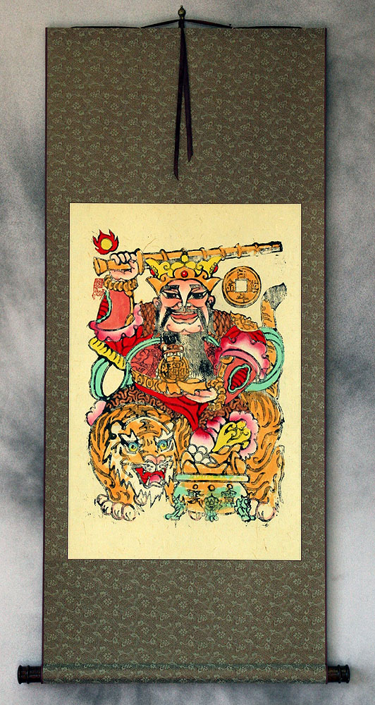 Saint of Money and Prosperity - Woodblock Print Wall Scroll