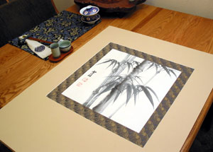 Using Chinese Silk Brocade Instead of Matting
