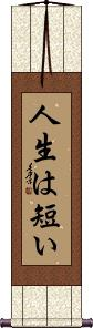 Life is Short Vertical Wall Scroll