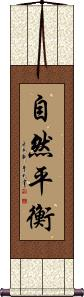 Nature in Balance / Balanced Nature Wall Scroll