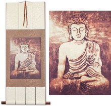 Stone Buddha Giclee Print<br>Wall Scroll