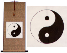 Yin Yang Symbol Print Wall Scroll