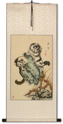 Asian Kittens - Chinese Cat Scroll