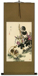 Fresh and New Kittens Wall Scroll