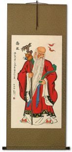 God of Longevity Wall Scroll