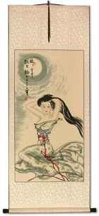 Beautiful Woman Under the Moon - Chinese Scroll