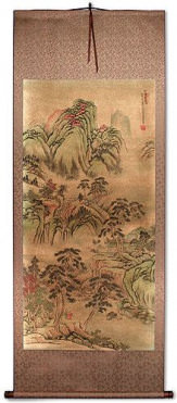 Scenery of Pine Mountain - Chinese Landscape Print Wall Scroll