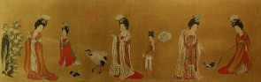 Tang Dynasty Ladies<br>Partial Print Painting