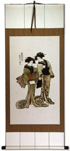 Beauties of the East - Japanese Woodblock Print Repro - Very Large Wall Scroll