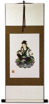 Guanyin Buddha Deity Print - Wall Scroll