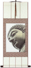 Face of Buddha Statue Wall Scroll