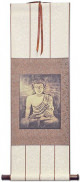Stone Buddha - Giclee Print - Wall Scroll