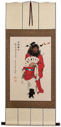 Zhong Kui Ghost Warrior Chinese Scroll