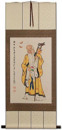 Longevity Saint Asian Scroll
