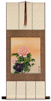 Classic Peony Flowers - Chinese Scroll