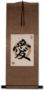 Love in Chinese and Japanese Kanji - Print Scroll