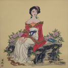 Antique-Style Asian Woman Painting