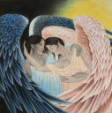 Angels Embrace Painting