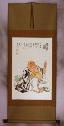 Big Belly Happy Buddha Wall Scroll