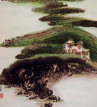 Abstract Asian House<br>Landscape Painting