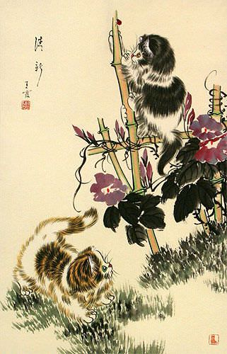 Fresh and New Kittens Wall Scroll close up view