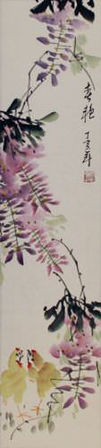 Spring Beauty - Wall Scroll close up view