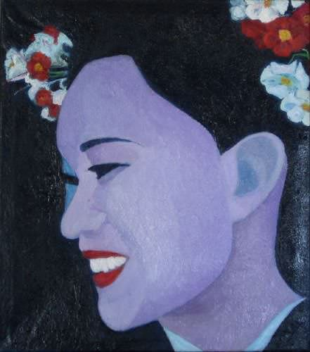 Face of Beauty - Japanese Oil Painting