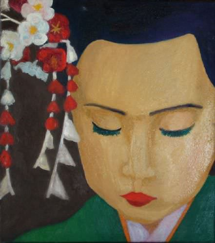 "See how ""Pretty Face - Japanese Oil Painting"" would look after being professionally framed"