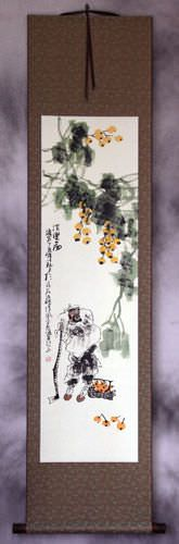 Loquat Man - Wall Scroll