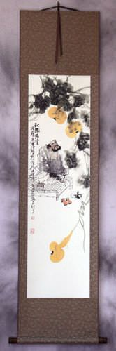 Man with Gourds Wall Scroll