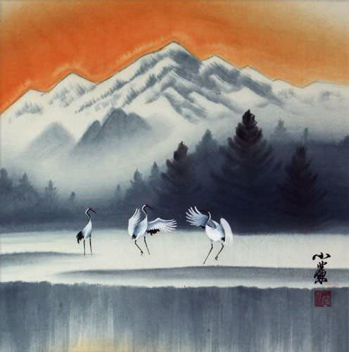 Tian Mountain Snowscape Painting