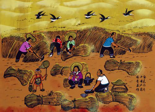 Golden June - Chinese Folk Art Painting