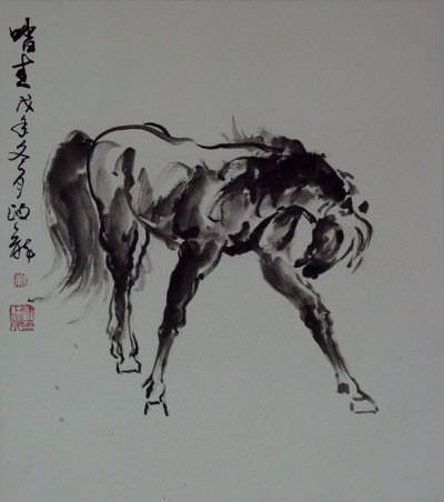 "See how ""Stepping on Green  - Chinese Painting"" would look after being professionally framed"