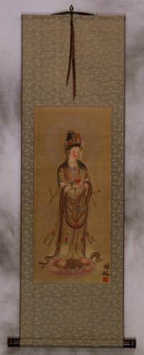 Guanyin Buddha - Buddhist Deity - Partial Print Wall Scroll