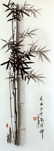 Charcoal Bamboo Chinese Artwork
