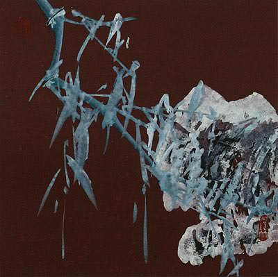 Abstract Frosty Bamboo - Chinese Painting