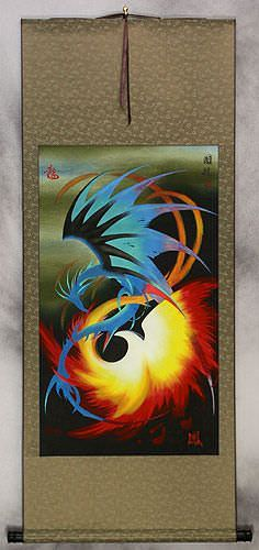 Dragon and Phoenix Chinese Wall Scroll