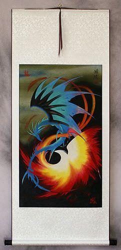 Dragon and Phoenix Wall Scroll