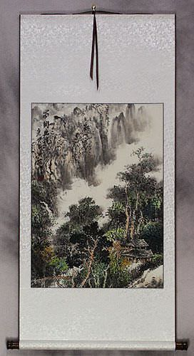 Village Home Landscape Wall Scroll