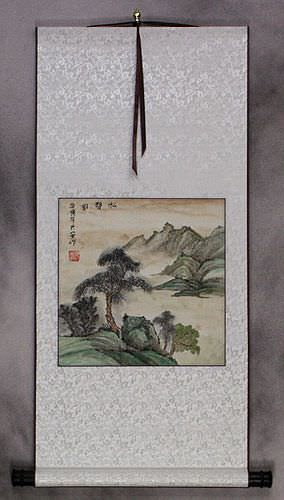 The Sound of Pine - Landscape Wall Scroll